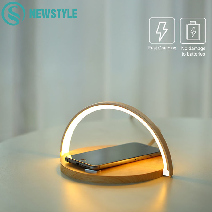 Wireless Charger Table Night Lamp